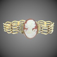 Victorian Gold Filled Carved Shell Cameo Bracelet