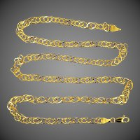 """14k Gold Unusual Links 20"""" Long Necklace"""