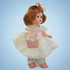 1950's Cosmopolitan Ginger Doll in Tagged Dress with Purse