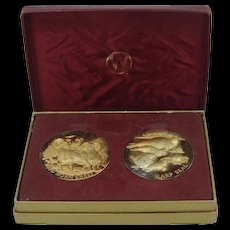 Wittnauer Precious Metals Guild Harp Seal & Big Horn Sheep Sterling Vermeil Coins