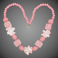 Czechoslovakia Glass Necklace Unusual Sputnik Beads