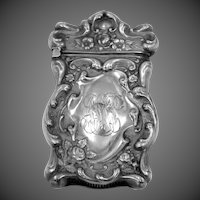 Victorian Era Sterling Silver Match Safe Vesta