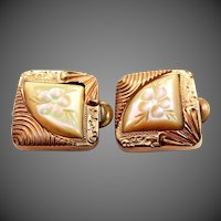 Victorian Pink Mother of Pearl Cuff Links