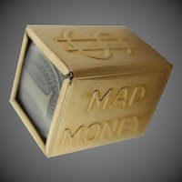 14k Gold Mad Money Charm with Silver Certificate Inside