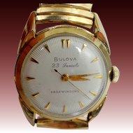 Bulova 23 Jewels Self Winding Man's Watch with Sun Ray Dial