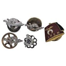 14k Gold and Diamonds Masonic & Shriner's Pins 5.4 Grams of Gold