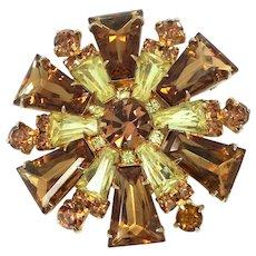 Juliana D & E Topaz Tapered Keystones Pin