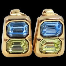 Chr. Dior Germany Two Stones Clip On Earrings