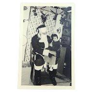 Original 1950's Santa Claus w/Child Agfa Photo Post Card