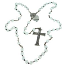 1930's Crystal Rosary with Reliquary Crucifix