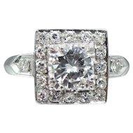 Platinum & 1.23tcw Diamond Ring with Appraisal