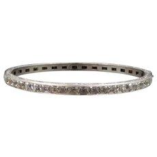 Art Deco Sterling Silver Filigree Bangle Bracelet 1920s Wedding / Stacking Jewelry