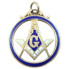 10k Gold & Enamel Masonic Charm or Fob