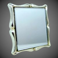 Heavy Solid Sterling Silver Pocket or Purse Mirror