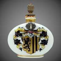 Crown Top 1930's Dresden Porcelain Hand Painted Scent Perfume Bottle