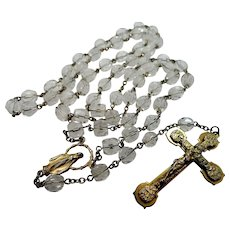 Beautiful Faceted Crystal Catholic Rosary