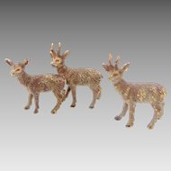 Antique Tiny Metal Doll House Deer