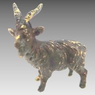 Antique Tiny Doll House Ram or Goat Metal Figure