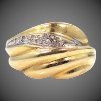 14k Gold & Diamonds Lady's Size 7 Ring