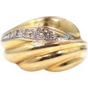 14k Gold & Diamonds Lady's Size 7 Ring