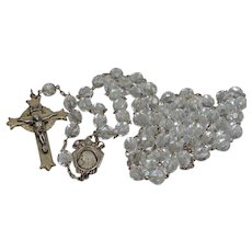 Extraordinary 1920's Sterling Silver Crystal Rosary