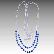 Relios Carlisle Jewelry Lapis Liquid Silver Sterling Necklace Pollack
