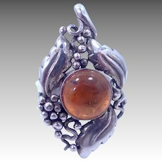 BOMA Sterling Silver & Baltic Amber Ring