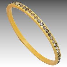 1930's Celluloid Rhinestone Bangle Bracelet
