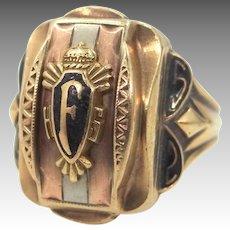 1952 10k Solid Gold Frackville High School Ring