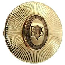 Heavy 10k Solid Gold Beard's School Pin Ad Astra per Aspera