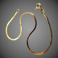 14k Gold Flat Serpentine Bracelet