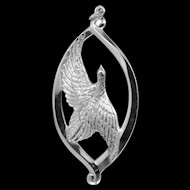 1974 Wallace Solid Sterling Silver Peace Dove Ornament or Pendant
