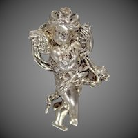 Vintage Sterling Silver Figural Angel Brooch