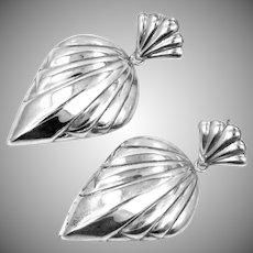 """2"""" Long Sterling Silver Dangle Earrings"""