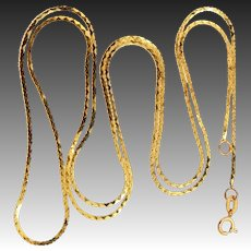 "14k Gold 24"" Long Chain Necklace"