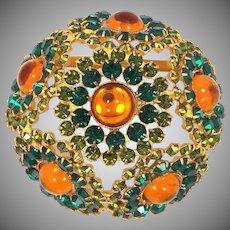 Beautiful High Domed Rhinestone Pin