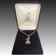 1990 Sterling Silver M.I. Hummel Club Necklace Mint in Box