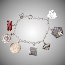 Sterling Silver 1960's Charm Bracelet