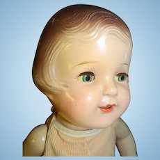 """1920-30's Arranbee Nancy 15"""" Toddler Doll with 2 Outfits"""