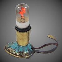 Signed Vintage Brass Jewish Memorial Lamp | Yahrzeit Memorial Lamp | Star of David Light