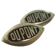 Two 14K Gold Dupont Service Pins