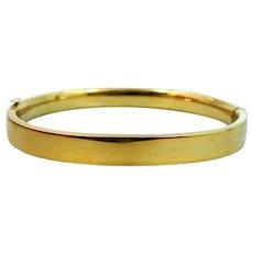 Carl Art Sterling Silver Vermeil Bangle Bracelet
