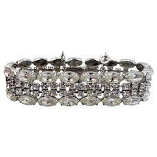Pretty Well Made 1950's Rhinestone Bracelet