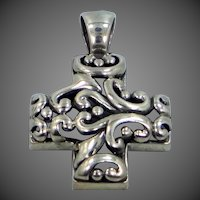 Nice Sterling Silver Filigree Cross Pendant