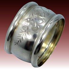 Vintage Sterling Silver Napkin Ring Signed (( W
