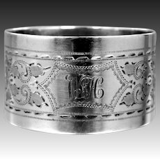 Antique 1906 George Jackson & David Fullerton Sterling Silver Napkin Ring