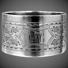 Antique 1906 George Jackson & David Fullerton Sterling Silver Napkin Ring