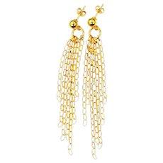 Sterling Vermeil Italy Chain Dangle Earrings