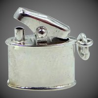 Carl Art Sterling Silver Movable Cigarette Lighter Charm