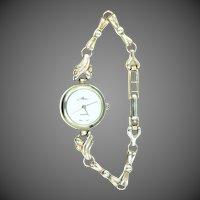 "Pretty Sterling Case & Band Lady's Quartz ""Laura"" Wristwatch"